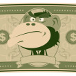 Stock Vector: Funny Money - Cartoon US Dollar