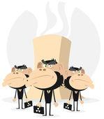 Jądrowej holu faceci w czerni — Wektor stockowy