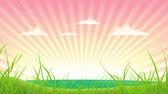 Paesaggio di primavera o estata — Vettoriale Stock