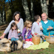 Picnic in autumn — Stock Photo