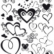 Royalty-Free Stock Vector: Mixed shape hearts