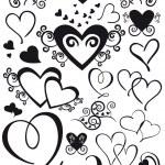smíšené tvar srdce — Stock vektor
