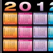Stock Vector: 2012 calendar in italiand english