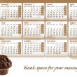 Chocolate muffin calendar 2012 — Stock Vector