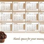 Chocolate muffin calendar 2012 — Stock Vector #7844944