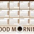 Coffee cup calendar 2012 - Image vectorielle
