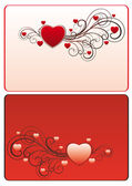 Frame with hearts and swirls — Stock Vector