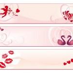 Valentine's Day banners — Stock vektor
