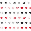 Mixed hearts assortment — Vector de stock