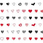 smíšené srdce sortimentu — Stock vektor
