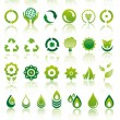 Green ecology icons — Stock Vector #7880939