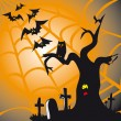 Royalty-Free Stock Vector Image: Halloween theme square card
