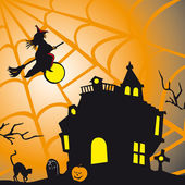 Halloween theme square card — Stock Vector
