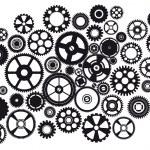 Set of mixed gears — Stock Vector
