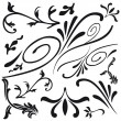 Leaf and flower design classical decorations - Stock Vector