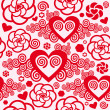 Heart texture seamless pattern — 图库矢量图片