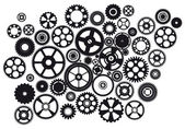 Set of mixed gears — Stock Vector