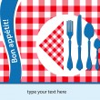 French placemat background - Stock Vector