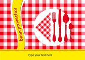 Spanish restaurant table-cloth — Stock Vector