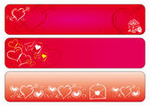 Love valentine banners — Stock Vector