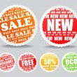 Discount stickers collection — Stock Vector #7884251