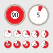 Timers set — Vector de stock #7884262