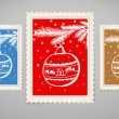 Royalty-Free Stock Vektorgrafik: Vintage post stamps