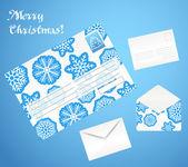 Envelopes de Natal — Vetor de Stock