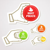 Discount stickers collection — Stock Vector