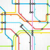 Abstract seamless background color metro map — Stock Vector
