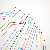 Abstract metro scheme background — Stock Vector