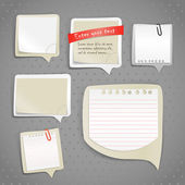 Paper text bubbles template — Vector de stock