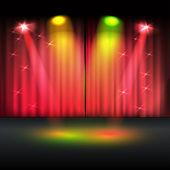 Illuminated stage — Stock Vector