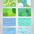 Set of different business cards — Stock Vector #7899773