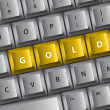Royalty-Free Stock Vector Image: Keyboard with GOLD word