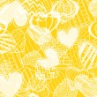 Hearts on yellow — Stock Vector #7899949