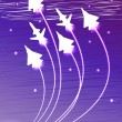 Stock Vector: Flying jets group with stars