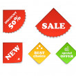 Colorful shopping labels — Stock Vector