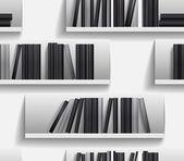 図書館の棚のシームレスな背景 — ストックベクタ