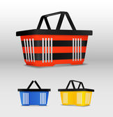 Shopping cart. icons — Vector de stock