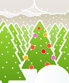Abstract Christmas forest — Stock Vector