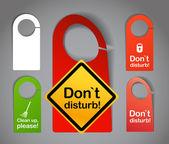 Hotel door signs — Stock Vector