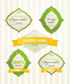 Vintage shopping labels — Stock Vector