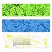 花卉矢量信息横幅一套 — 图库矢量图片