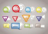 Collection d'étiquettes de shopping — Vecteur
