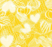 Hearts on yellow — Stock Vector