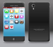 Moderní touchphone miniaplikace — Stock vektor