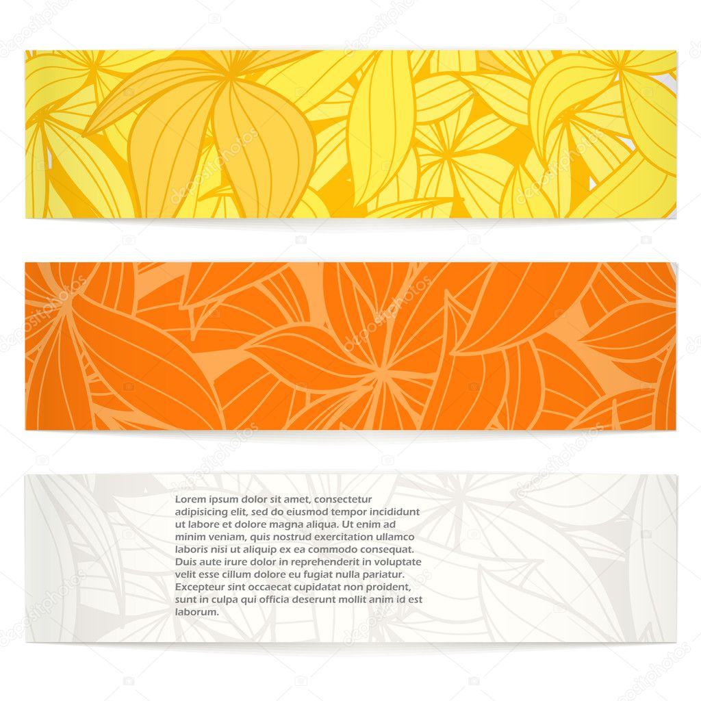 Set of floral vector information banners. Ready for a text — Stock Vector #7899713