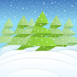 Christmas forest — Stock Vector #7900089