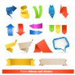 Paper ribbons and arrows collection — Stock Vector #7900108